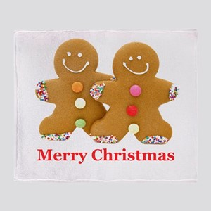 Gingerbread Men Throw Blanket